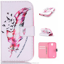 Wholesale IMD phone case for Samsung s4,flip TPU+Leather Painted Case with stand function card slot