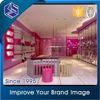 Modern show case display/shop clothing window display/wall mounted acrylic display case