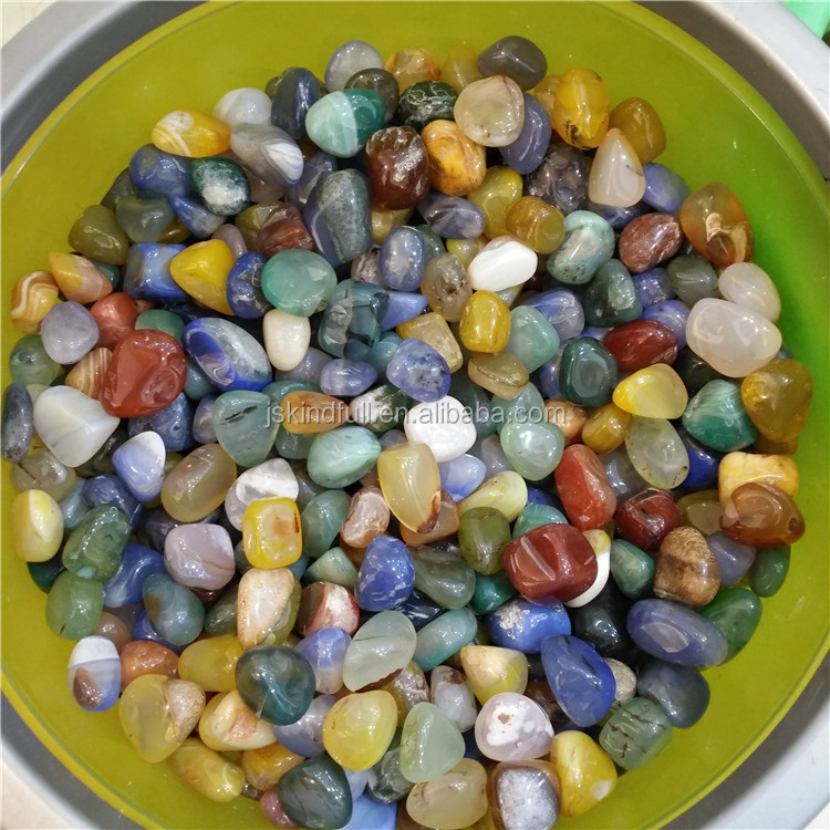 Rainbow Agate Tumbled Stones Mixed Crystal Color Gravels