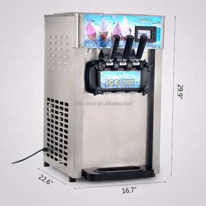 740W 3 Flavor Soft Commercial ice cream making machine for Sale