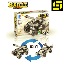 Enfants Trasforming Réservoir Militaire <span class=keywords><strong>Star</strong></span> World, bloc de construction, 2 en 1 <span class=keywords><strong>jouets</strong></span> éducatifs