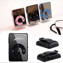 Mirror clip MP3 Promotion fashion Mini Sport Player 6 Colors Blue red blue pink white