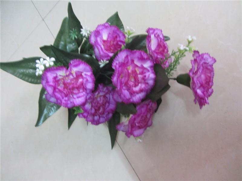 Plastic Flower Arrangement Handmade Cheap Carnation Artificial ...