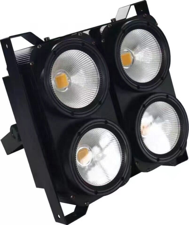 2in1 Warm White + Cool White 2*2 Matrix 4*100w Led Cob 4 Eyes Audience Blinder Effect light