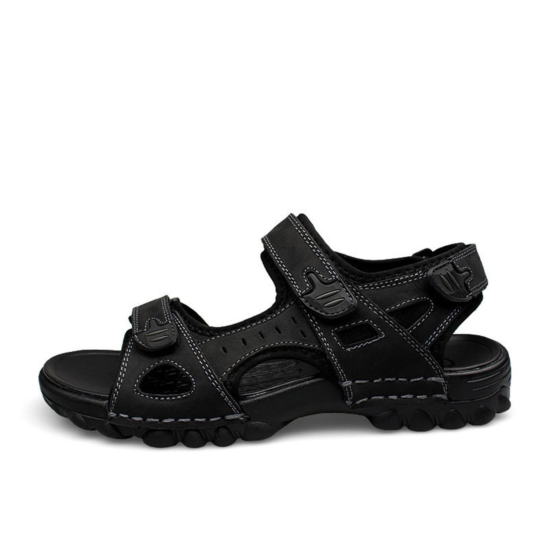 81979845f26c77 Carolyn Jones Big Size 48 Mens Sandals Genuine Leather Outdoor Black Light  Sandal