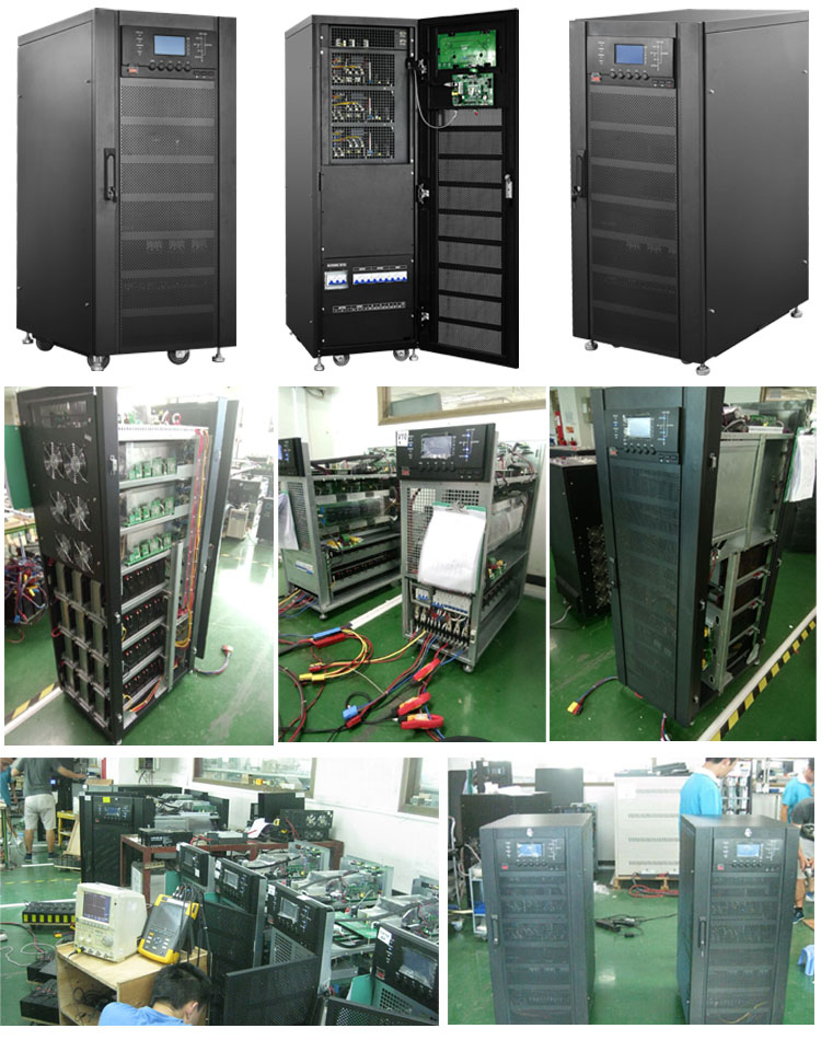 40kva 36kw 60kva 54kw online high frequency three phase online ups for Security / Monitoring / Alarm