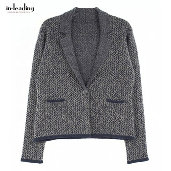 Regular Women Garment Computer Knitted Ladies Cardigan With Pockets