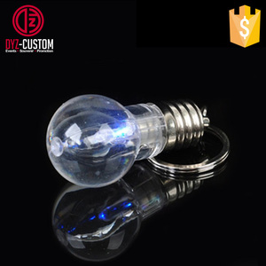 Promotion Led Bulb Key chain Mini LED Flash Light Bulb Keychain