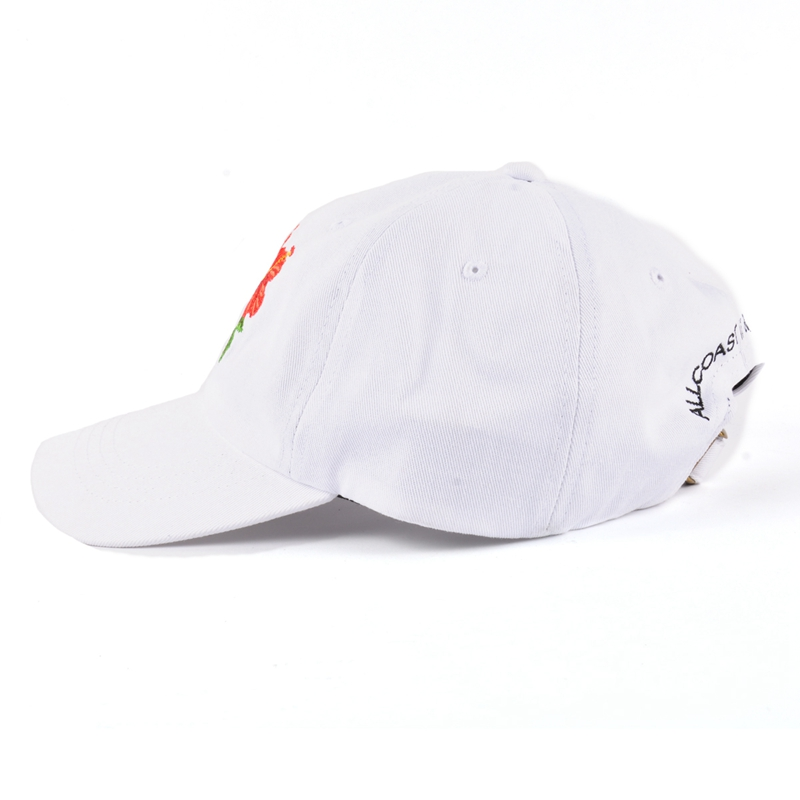 Wholesale cheap logo unstructured baseball caps custom cotton twill white dad hat