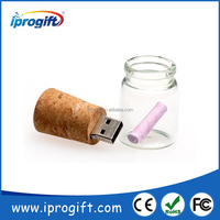 Wishing bottle USB flash drive with custom logo printing