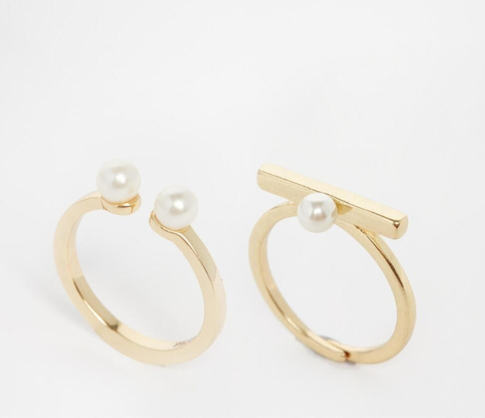 Simple Gold Ring Designs Fashion Ladies Latest Pearl Ring Design ...
