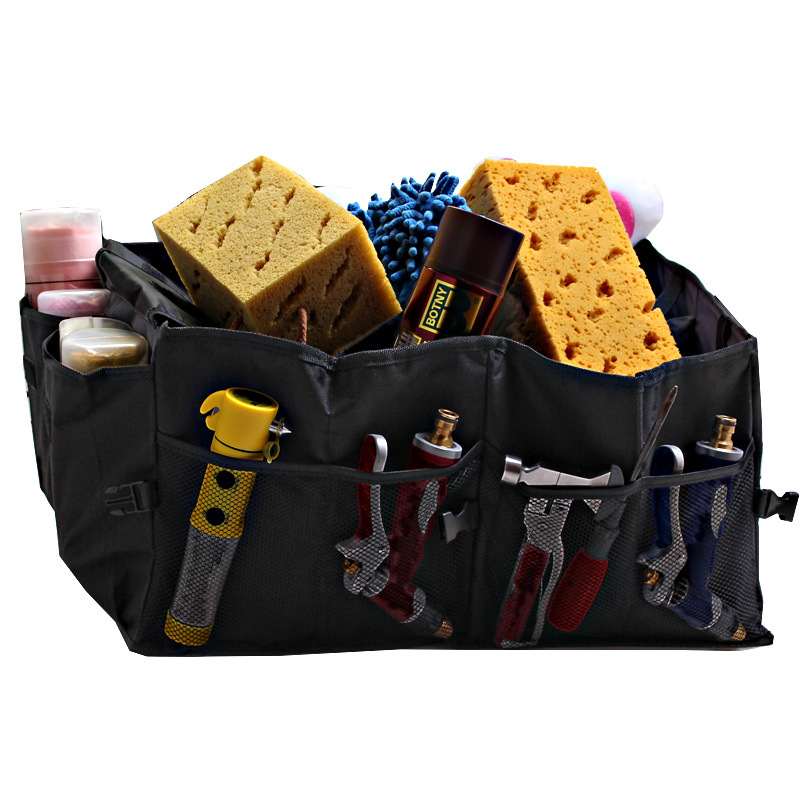 HOT !Folding trunk bags box tool grocery car storage box trunk compartment storage box car garbage bucket auto supplies