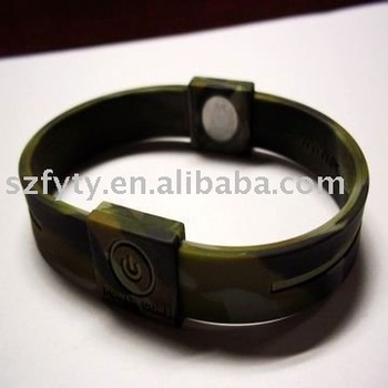 Army Color Body Balance Animal Silicone Bracelet