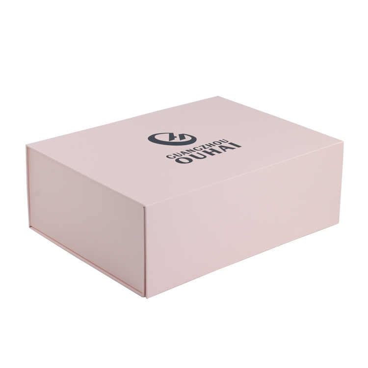 Custom Logo Large Pink Magnetic Folding Packaging Gift Box For Packing