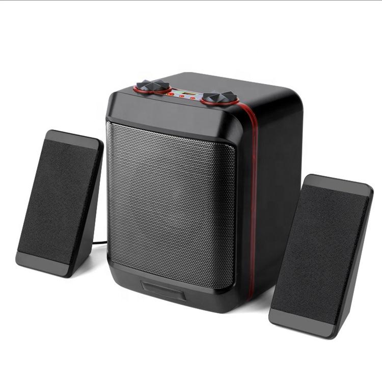 Bom som 2.1 multimedia speaker usb home theater subwoofer altofalante do computador portátil