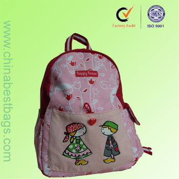 Cute Pink Customized Book Bag Trendy School Bags For Girls - Buy ...