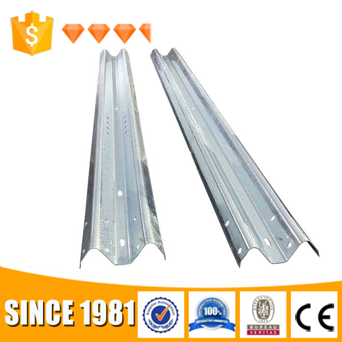 2017 Galvanized stainless steel surface vehicle car crash trafic safety w beam metal guardrail barrier price for sale