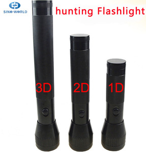 Operated by 4D/3D/2D Dry Cell batteries + Maglite Outdoor D Battery Flashlight