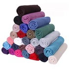 Hot sell cheap price 2019 multi color plain women scarf muslim hijab jersey
