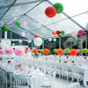 2016 hanging tissue paper flower ball for wedding tent decoration