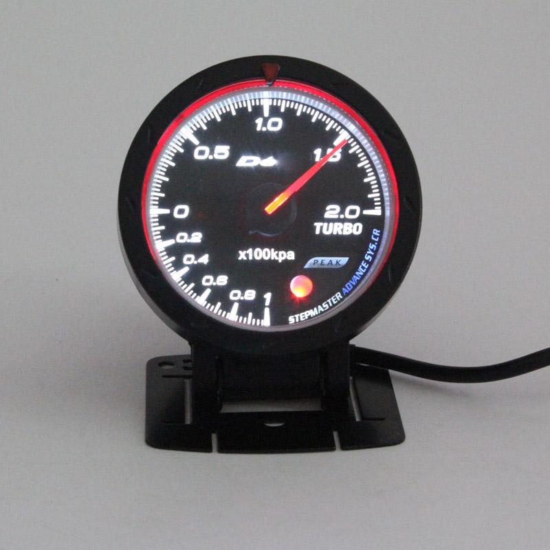 60 мм бар турботаймер повышение колесная DEF1 стиль давление наддува метр черный лица с датчиком авто колесная база наддува