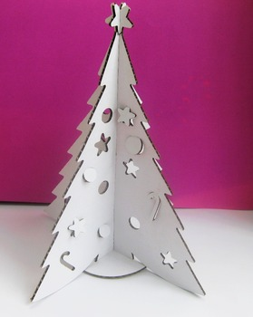 Cardboard Christmas Tree christmas decoration