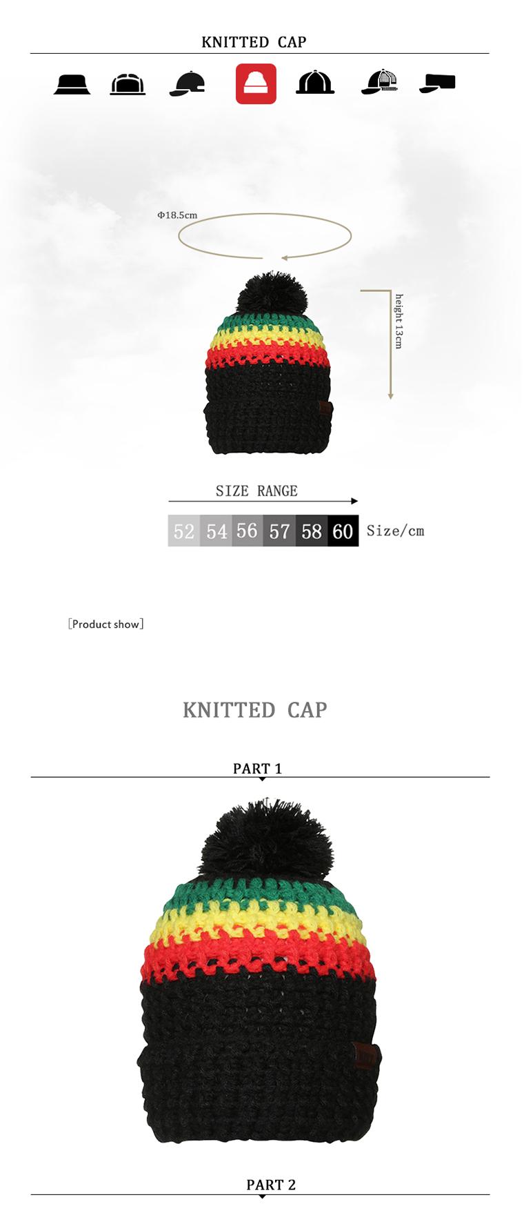 51289254e20 Wholesale Popular Ball Design Winter Handmade Rasta Crochet Hats For Sale