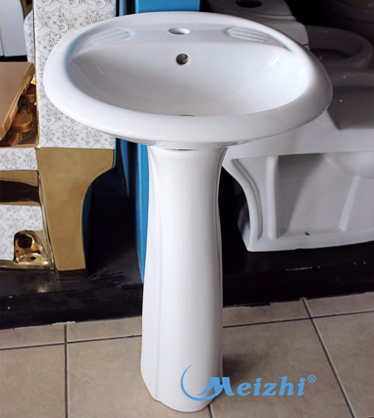 Pedestal yellow color small children's sink