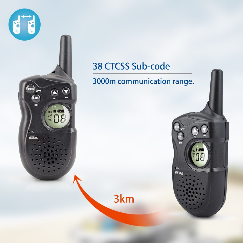 3km long range vox kids mini outdoor camping equipment radio phone small walkie talkie