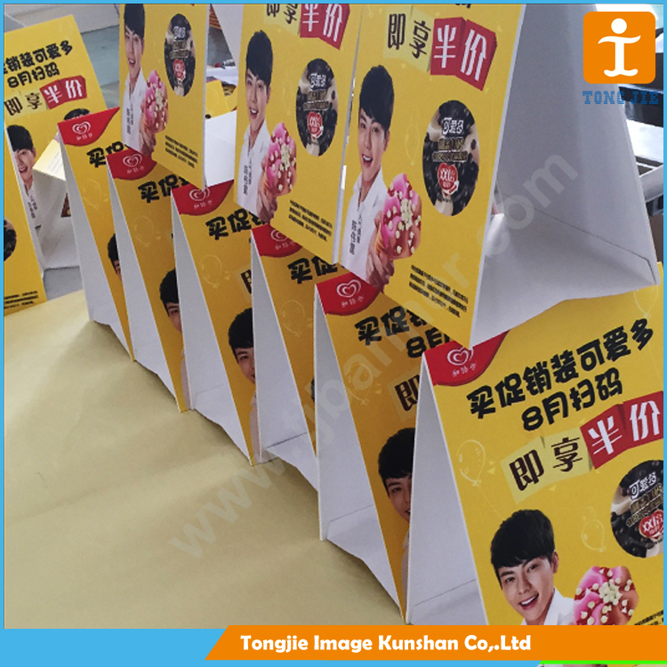 Table banner stand board, ad poster board for promotion