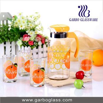 1l Beautiful Drinking Glass Water Set Of 5