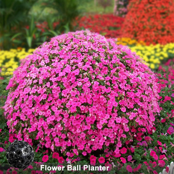 Outdoor Round Flower Box Large Giant Plastic Ball Shape Planters