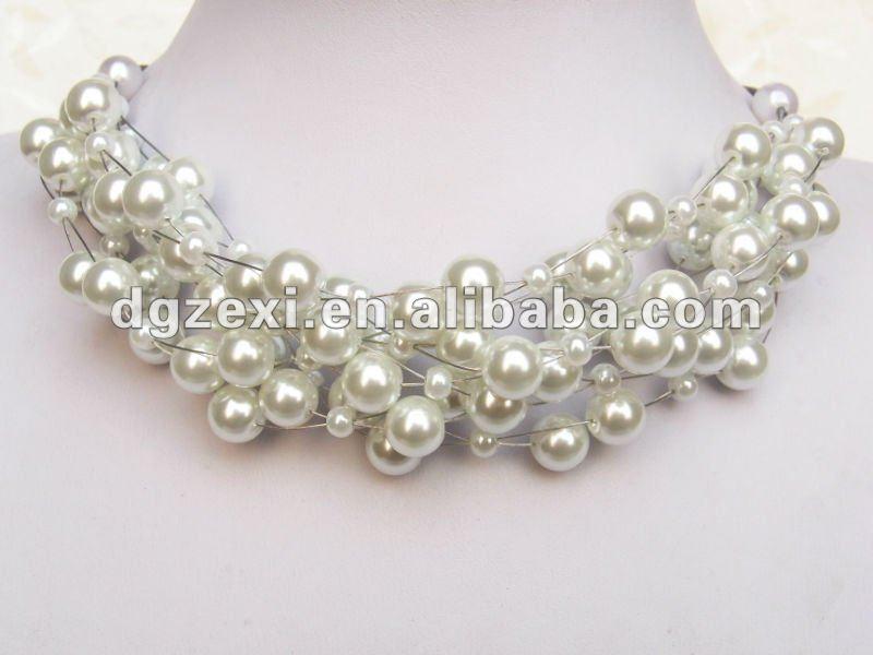 2012 artificial nupcial de la perla bisuteria collar