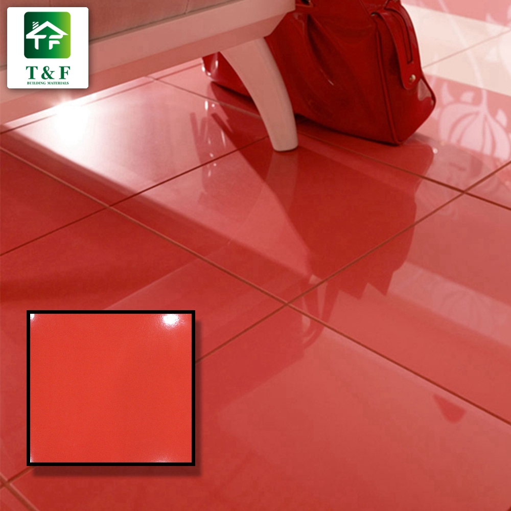 Rustic Solid Color Red Glazed Ceramic Floor And Wall Tile 12x12