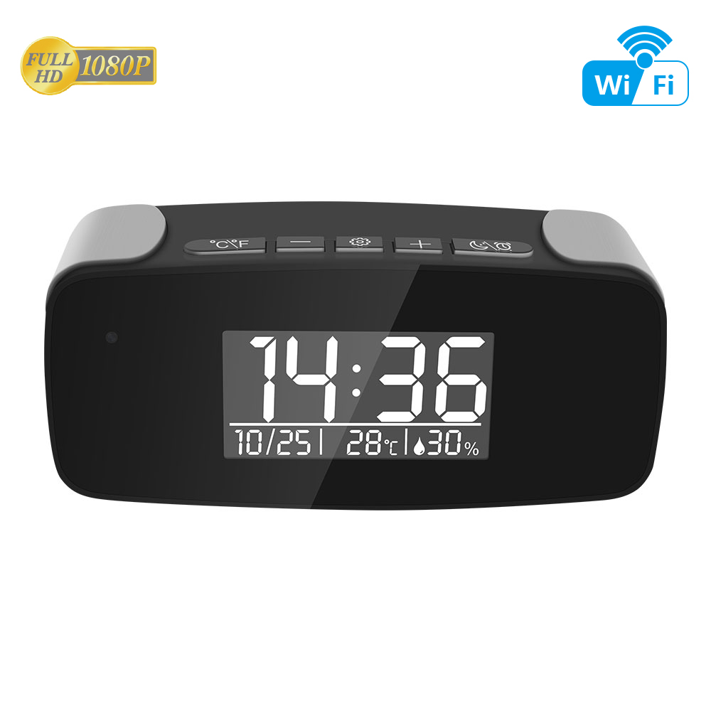 Brand New Tiny WiFi Clock Camera 1080P High Resolution Live Streaming Video remotely by APP 6 Meters Night Vision Auto