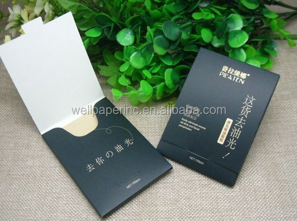 Portable oil blotting paper for cleaning face
