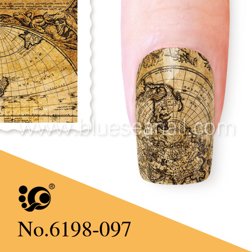 world map nail art old world nail stickers