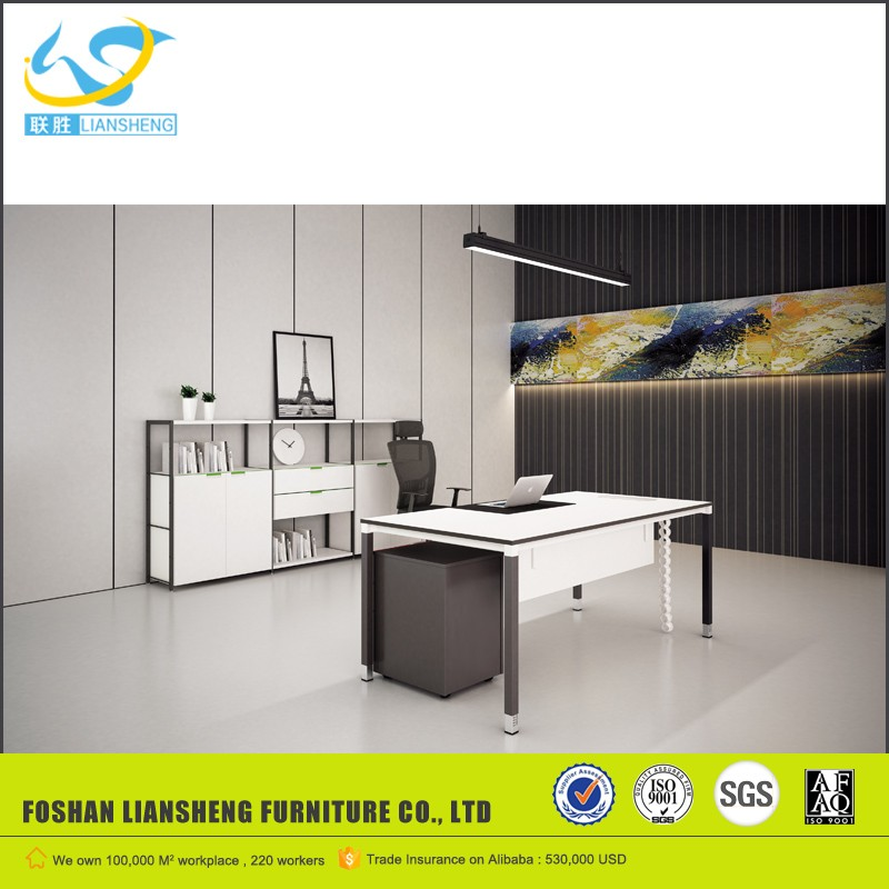 LS-M1470 modern director design office desks with three drawers pedestal