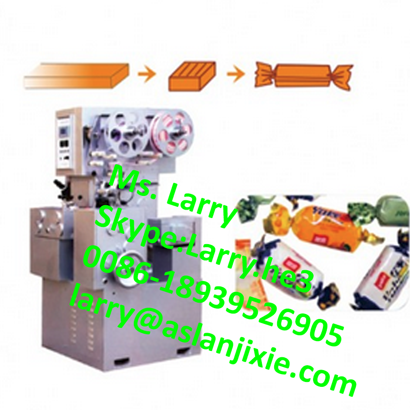 cellophane wrapping machine/toffee cutting and packing machine/taffy cut and wrap machine