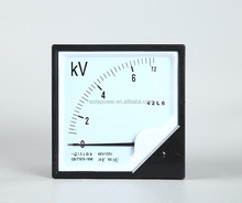 voltage meter 6KV/100V Pointer type Ac voltmeter 120*120 Ac voltage indicator