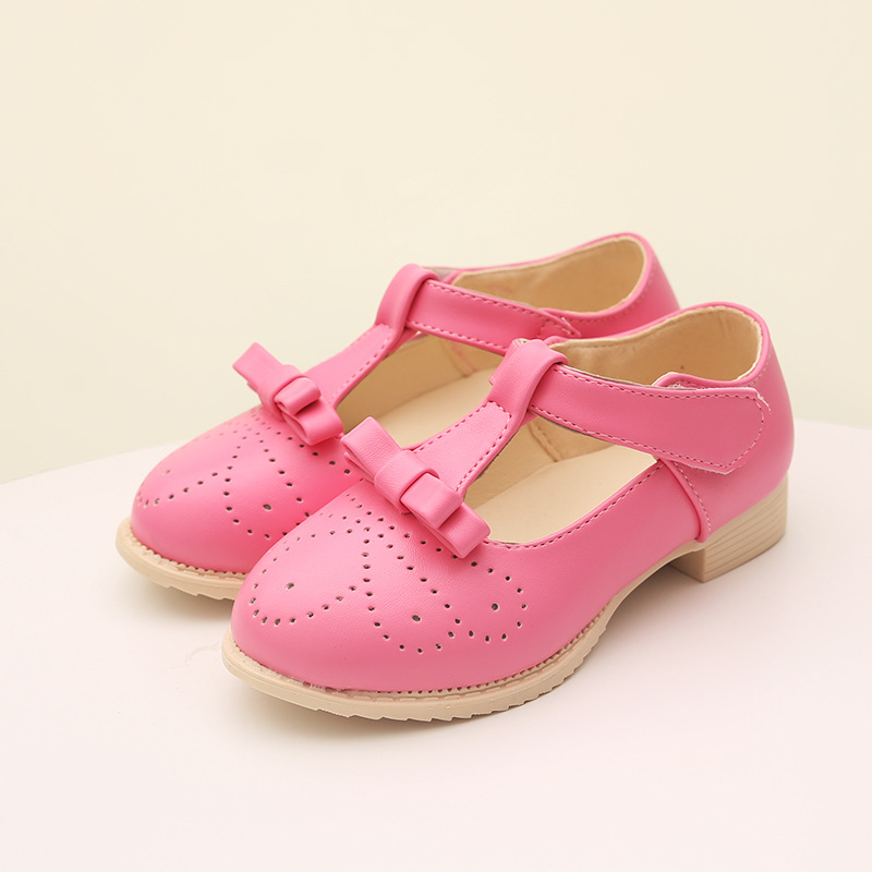 2015 Autumn New Arrival Korean Version Girls Shoes Bow Girls Sneakers Children's Princess Shoes Solid Chaussure Enfant Fille NN