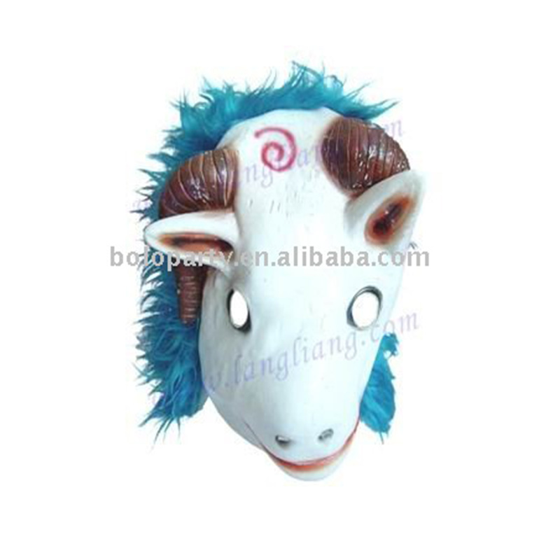 2017 latex Halloween GOAT HEAD mask
