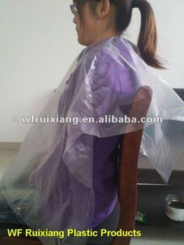 Hairdressing Cape Hair Cutting Cape Disposable Plastic Cape - Buy ...