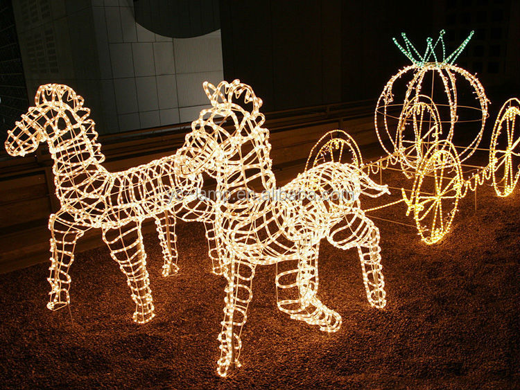 Christmas Lighted Horse Carriage Outdoor Decoration : Latest outdoor garden led horse carriage christmas buy