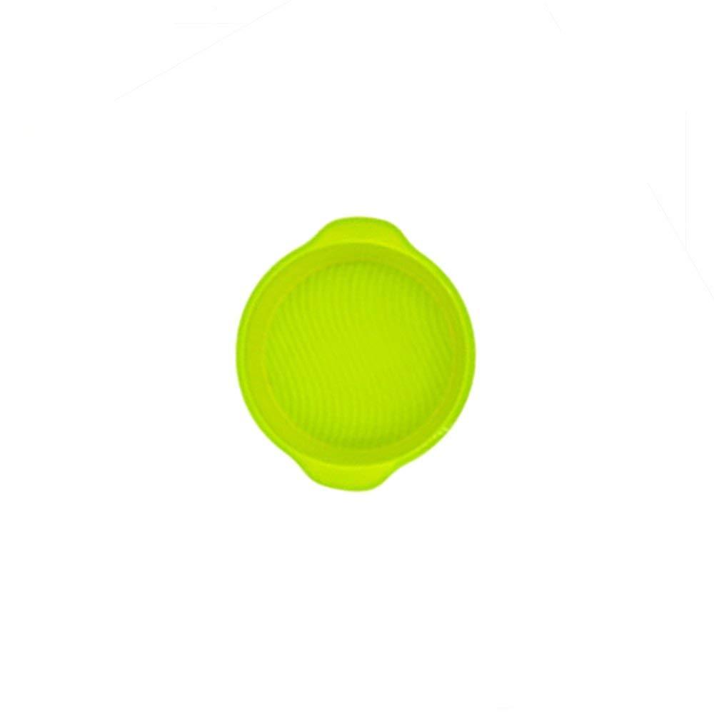 "9"" Round Cake Pan Silicone Baking Mold, BPA Free Non-Stick FDA Grade Silicone, 9"" Round x 2 .36"" Deep (Green)"