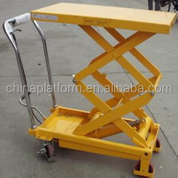 GTT50 500kg Portable Electric Scissor High Lift Hydraulic Pallet Lift Table
