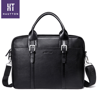 Genuine Leather Laptop Bag Briefcase Leather Men Factory Supply Wholesale