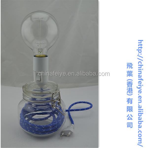 Vaso Di Vetro Lampada Da Scrivania Con Multicolorein