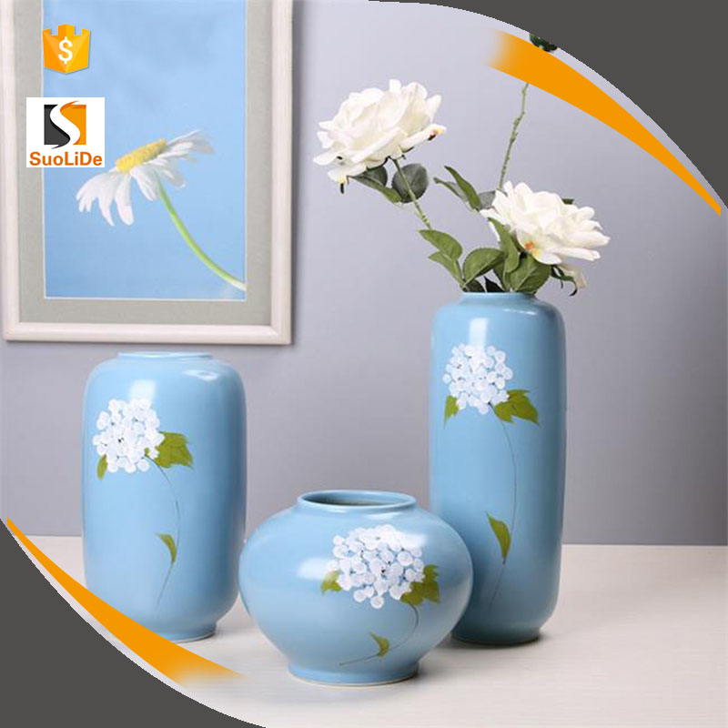 Hand paiting flower porcelain home decor vases jingdezhen ceramic
