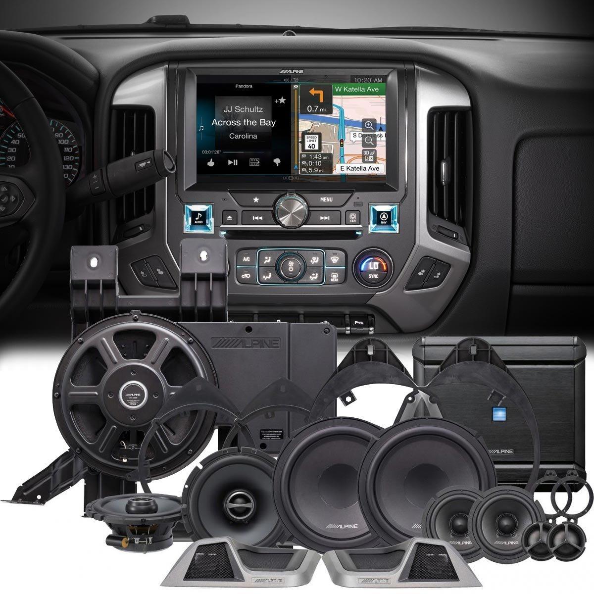 "Get Quotations · Alpine X110-SLV 10"" Navigation Restyle system & PSS-31GM  Speaker Upgrade Package"